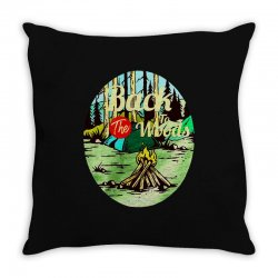 camp fire Throw Pillow | Artistshot