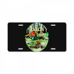 camp fire License Plate | Artistshot