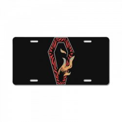 coffin License Plate | Artistshot