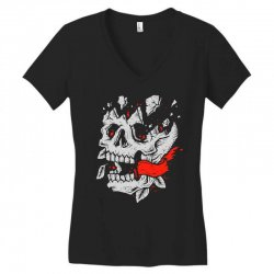 crackskull Women's V-Neck T-Shirt | Artistshot