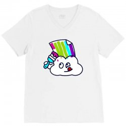 fake rainbow V-Neck Tee | Artistshot
