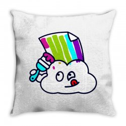 fake rainbow Throw Pillow | Artistshot