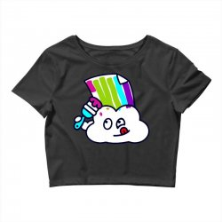 fake rainbow Crop Top | Artistshot