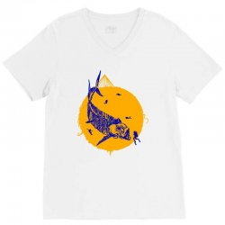 fish cracker V-Neck Tee | Artistshot