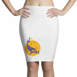 fish cracker Pencil Skirts | Artistshot