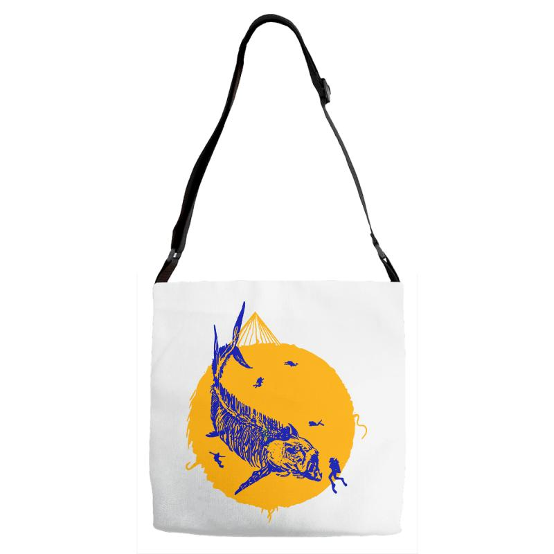 Fish Cracker Adjustable Strap Totes | Artistshot