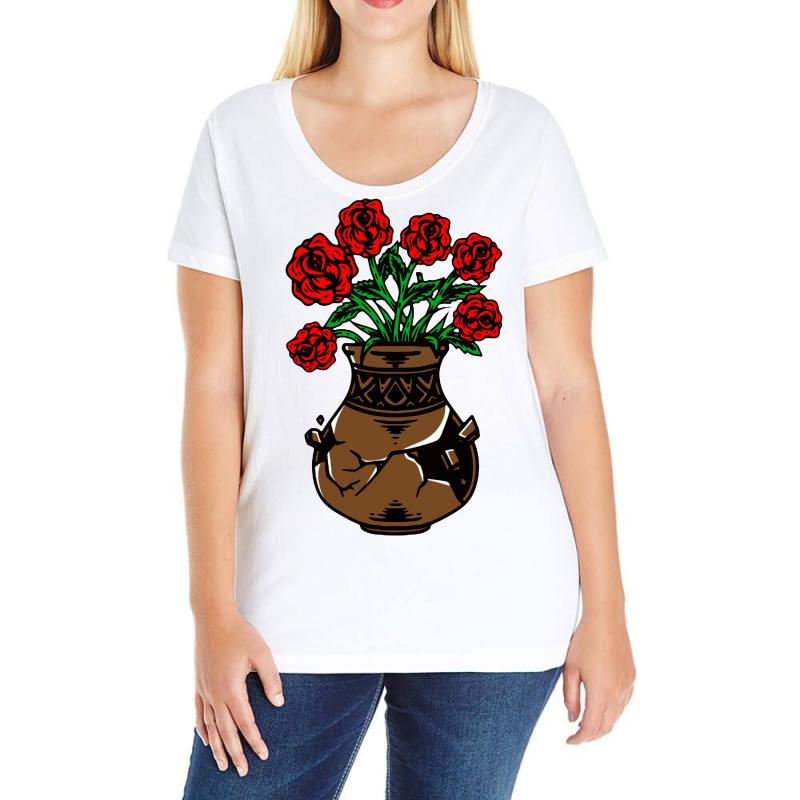 Flower And Vase Ladies Curvy T-shirt | Artistshot