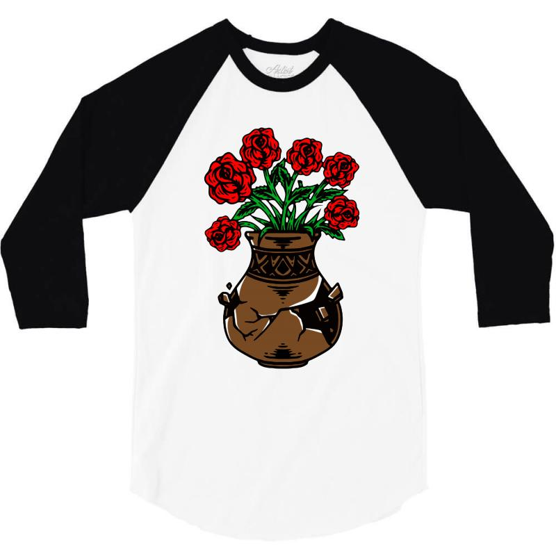 Flower And Vase 3/4 Sleeve Shirt | Artistshot