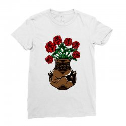 flower and vase Ladies Fitted T-Shirt | Artistshot
