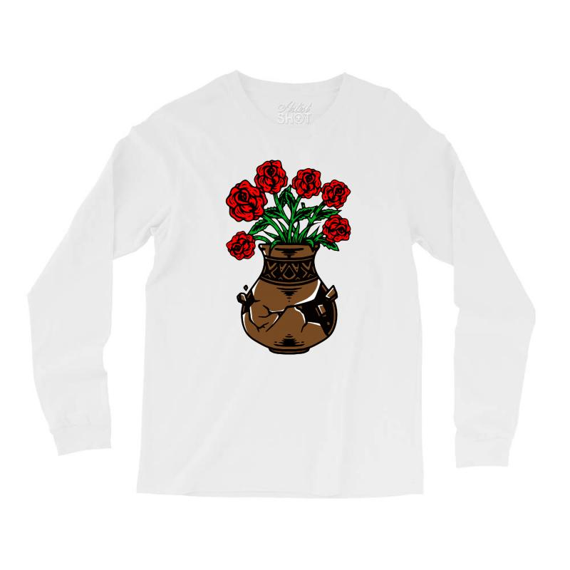 Flower And Vase Long Sleeve Shirts | Artistshot