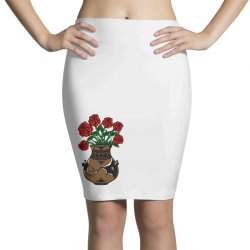 flower and vase Pencil Skirts | Artistshot
