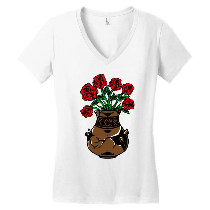 Flower And Vase Women's V-neck T-shirt | Artistshot