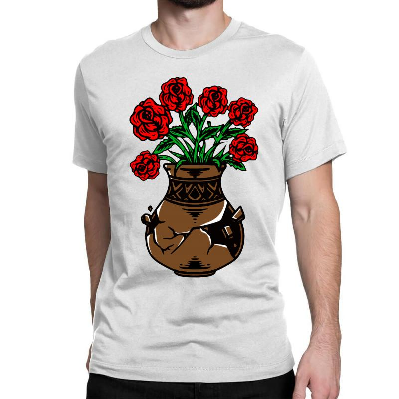 Flower And Vase Classic T-shirt | Artistshot