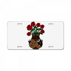 flower and vase License Plate | Artistshot