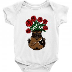 flower and vase Baby Bodysuit | Artistshot