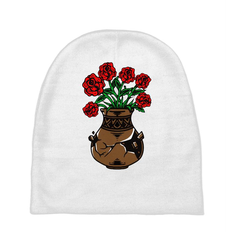 Flower And Vase Baby Beanies | Artistshot