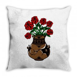 flower and vase Throw Pillow | Artistshot