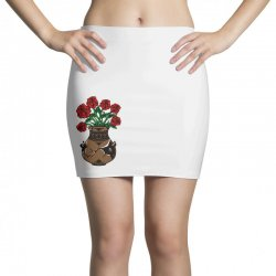 flower and vase Mini Skirts | Artistshot
