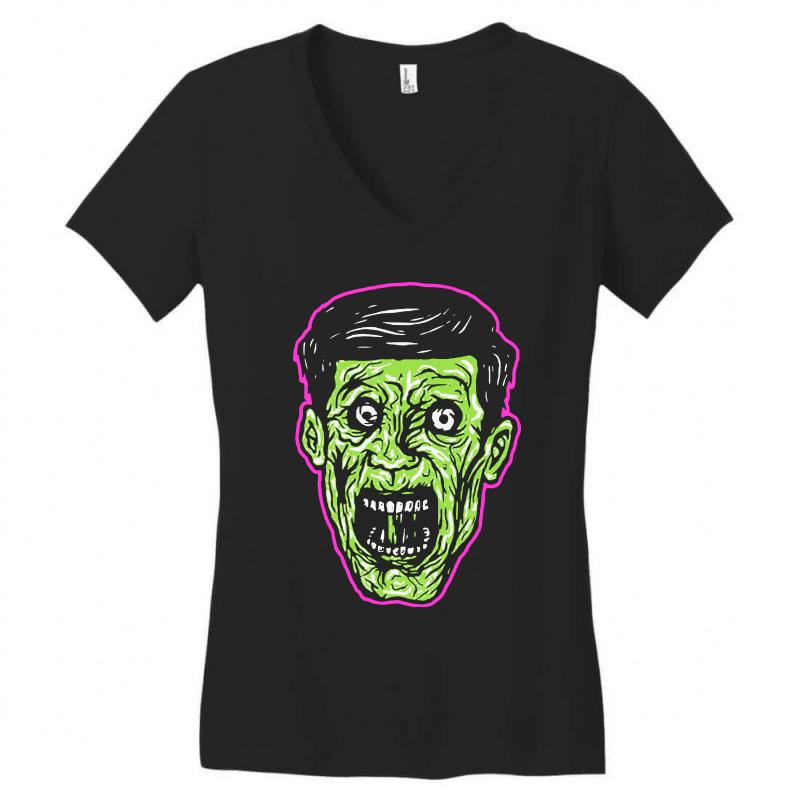Green Zombie Women's V-neck T-shirt | Artistshot