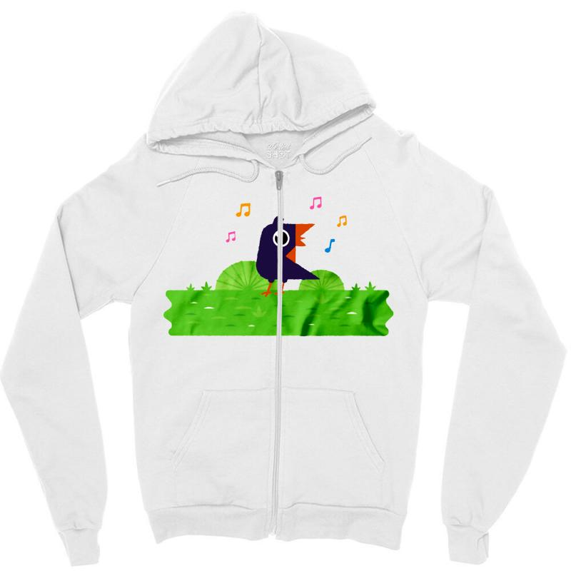 Happy Bird Zipper Hoodie | Artistshot
