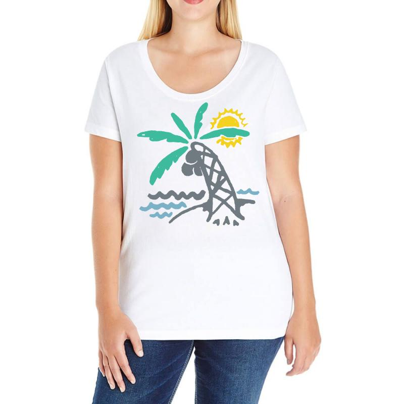 Hello Summer Ladies Curvy T-shirt | Artistshot