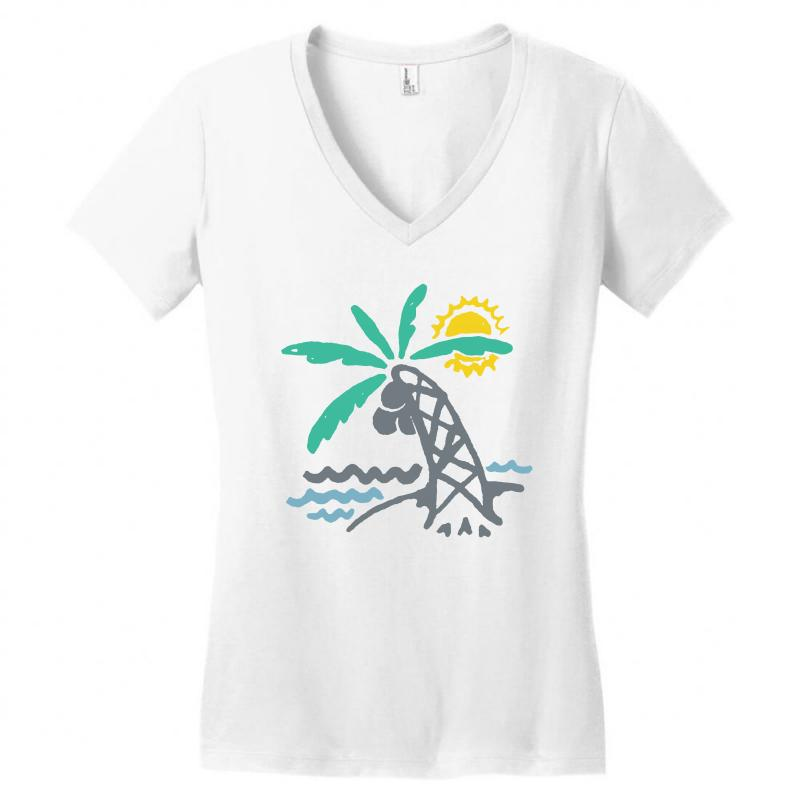Hello Summer Women's V-neck T-shirt | Artistshot