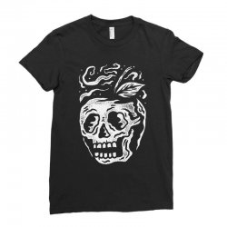 apple skull Ladies Fitted T-Shirt | Artistshot