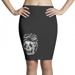 apple skull Pencil Skirts | Artistshot