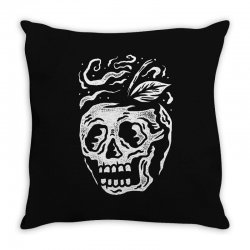 apple skull Throw Pillow | Artistshot