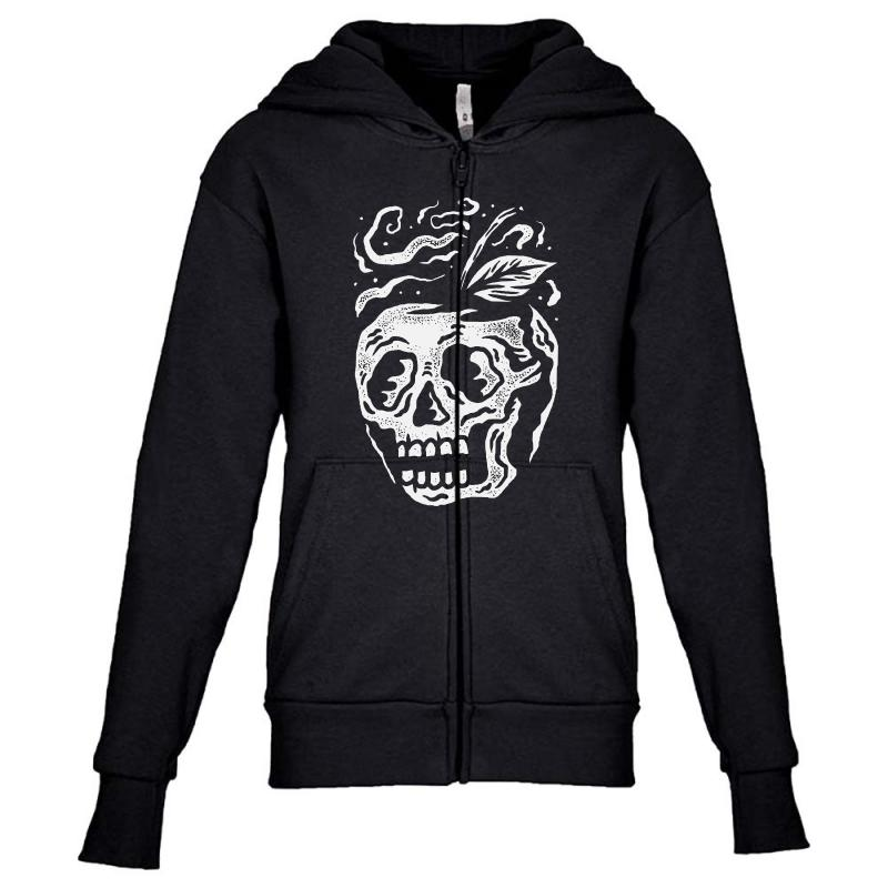 Apple Skull Youth Zipper Hoodie | Artistshot