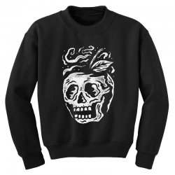 apple skull Youth Sweatshirt | Artistshot