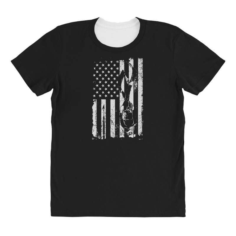 American Diver All Over Women's T-shirt | Artistshot