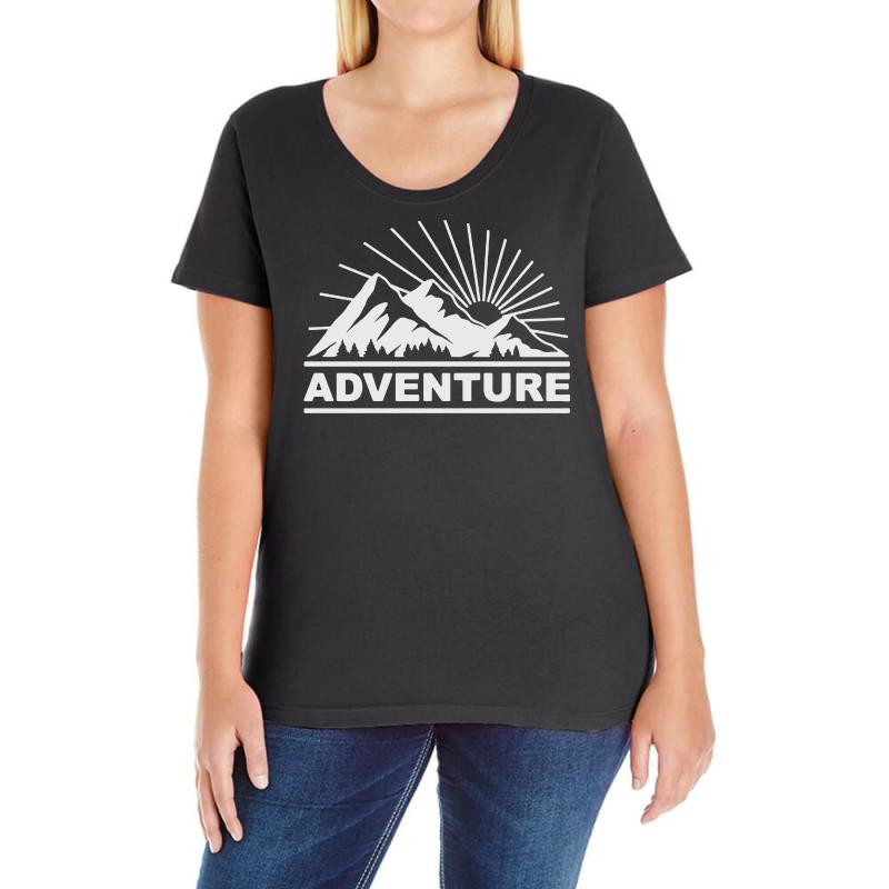 Adventure Mountain Ladies Curvy T-shirt | Artistshot
