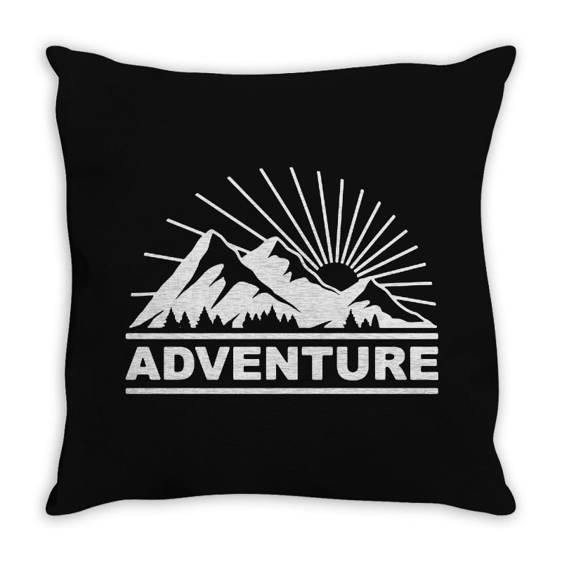 Adventure Mountain Throw Pillow | Artistshot