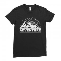 adventure mountain Ladies Fitted T-Shirt | Artistshot