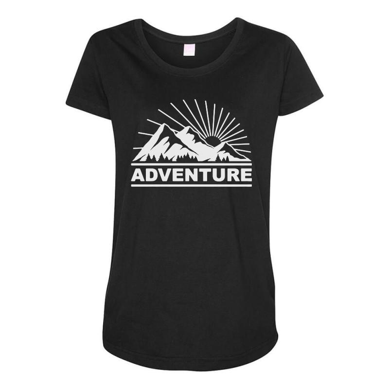 Adventure Mountain Maternity Scoop Neck T-shirt | Artistshot