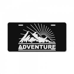 adventure mountain License Plate | Artistshot