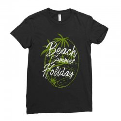 beach island Ladies Fitted T-Shirt | Artistshot