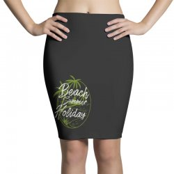 beach island Pencil Skirts | Artistshot