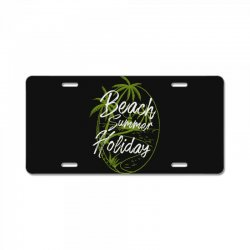 beach island License Plate | Artistshot
