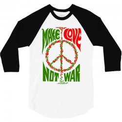 Make Lover Not War 3/4 Sleeve Shirt | Artistshot