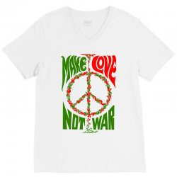Make Lover Not War V-Neck Tee | Artistshot