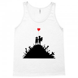 Banksy Kids On Guns Tank Top | Artistshot