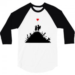 Banksy Kids On Guns 3/4 Sleeve Shirt | Artistshot