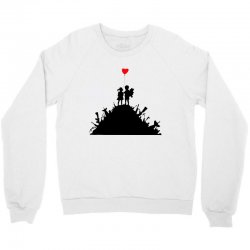Banksy Kids On Guns Crewneck Sweatshirt | Artistshot