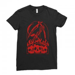 burn the skull Ladies Fitted T-Shirt | Artistshot