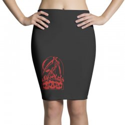 burn the skull Pencil Skirts | Artistshot
