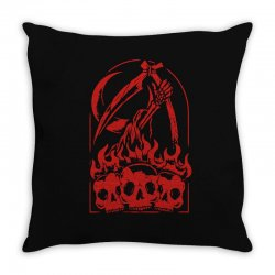 burn the skull Throw Pillow | Artistshot