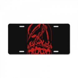 burn the skull License Plate | Artistshot