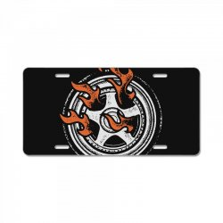 burn rings License Plate | Artistshot